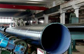 大口径TPEP防腐螺旋钢管