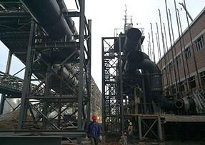 防城港盛隆冶金钢铁项目基地使用天然气管道螺旋焊接钢管现场项目
