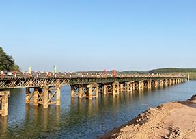 广西横县沙坪河特大桥施工使用820螺旋钢管