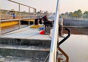生物池曝气主管维修配件工程项目